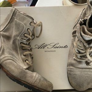 All Saints kids suede military boots
